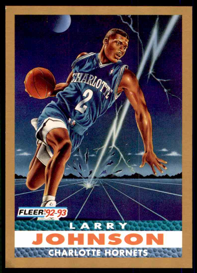 1992 93 Fleer Larry Johnson 253 On Kronozio