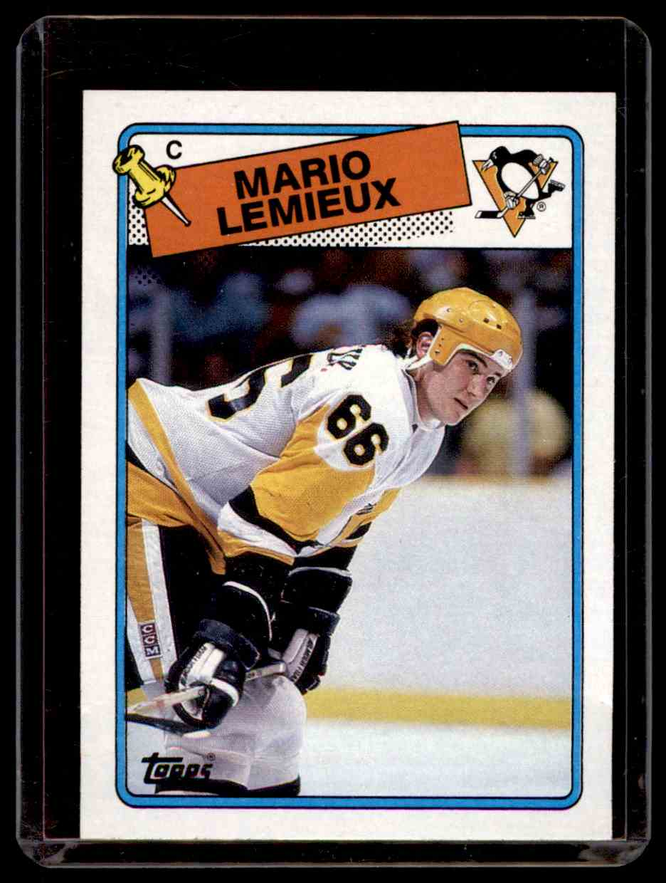 1988-89 Topps Mario Lemieux #1 card front image