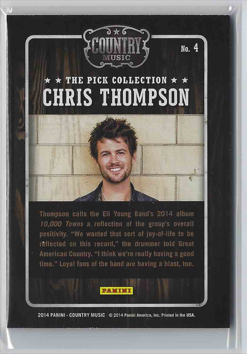 2015 Country Music Pick Collection Chris Thompson #4 card back image