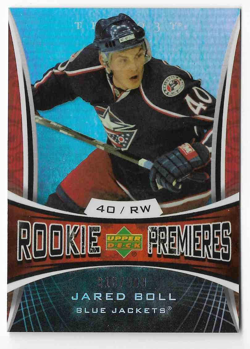 2007-08 Upper Deck Trilogy Jared Boll #138 card front image