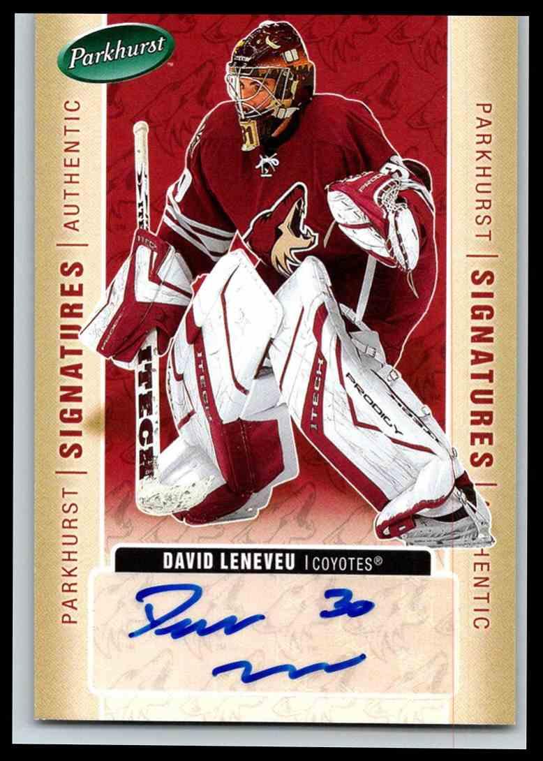2005-06 Parkhurst Signatures David LeNeveu #DL card front image