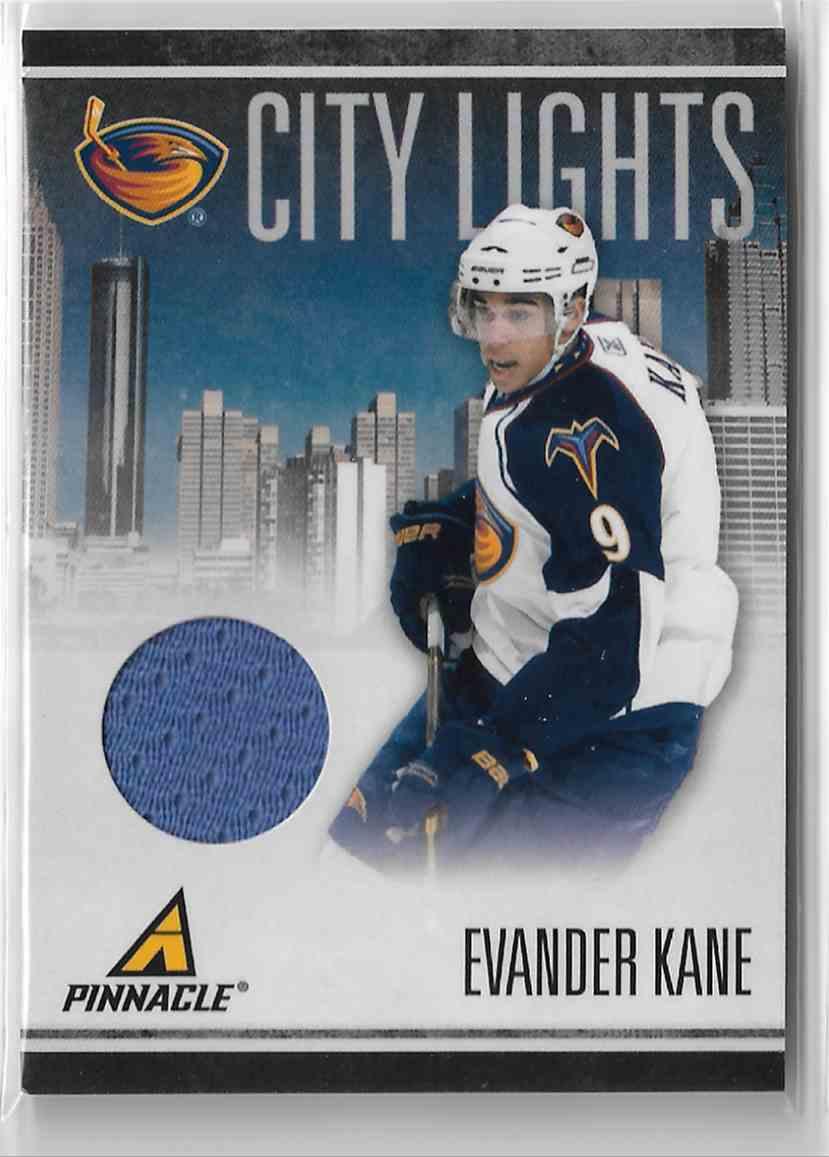 2010-11 Panini Pinnacle City Lights Materials Evander Kane #58 card front image