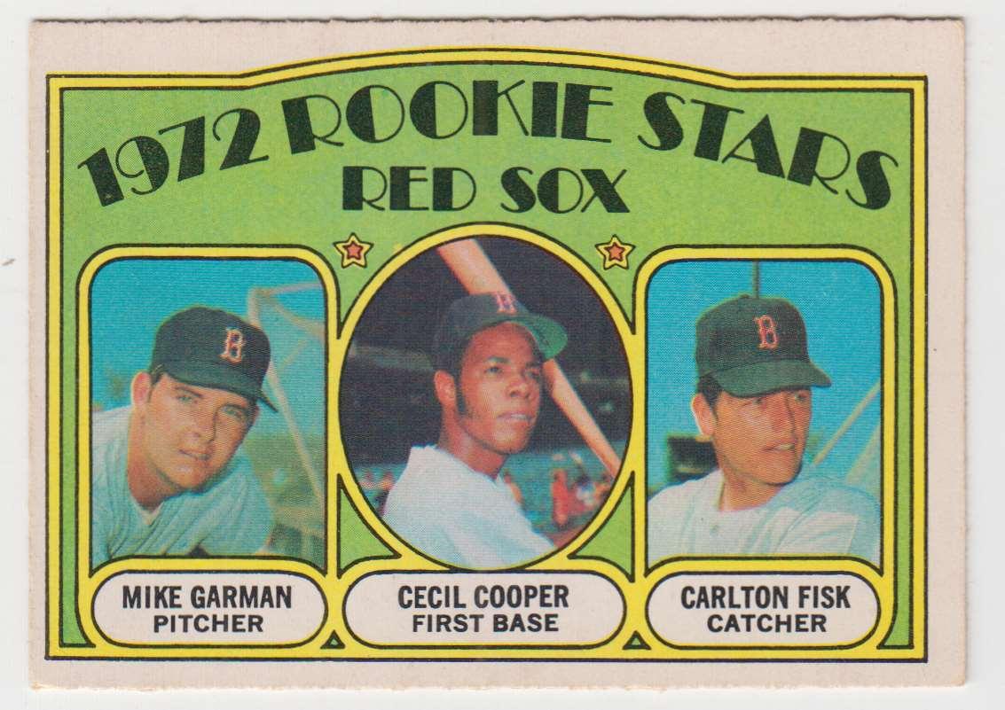 1972 O-Pee-Chee Mike Garman / Cecil Cooper / Carlton Fisk #79 card front image