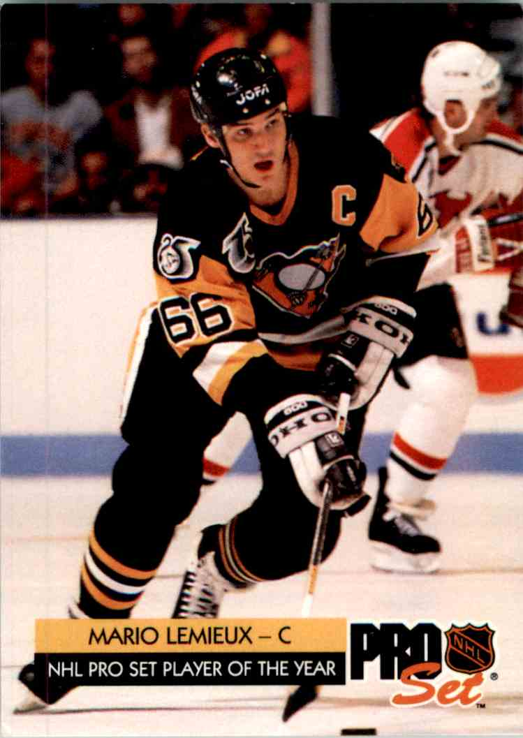 Verzamelkaarten, ruilkaarten Verzamelkaarten: sport 1993 Upper Deck McDonald's #McH-01 Mario Lemieux Pittsburgh Penguins Hockey Card
