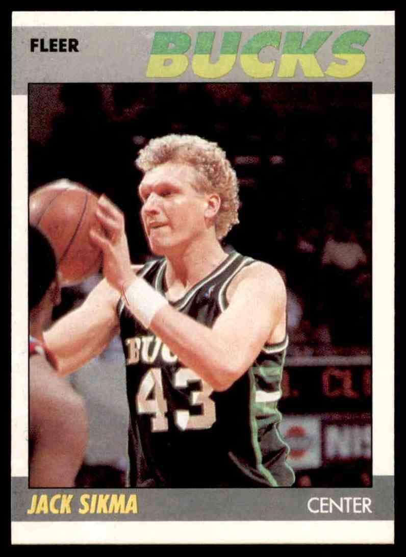 1987-88 Fleer Basketball Jack Sikma #100 card front image