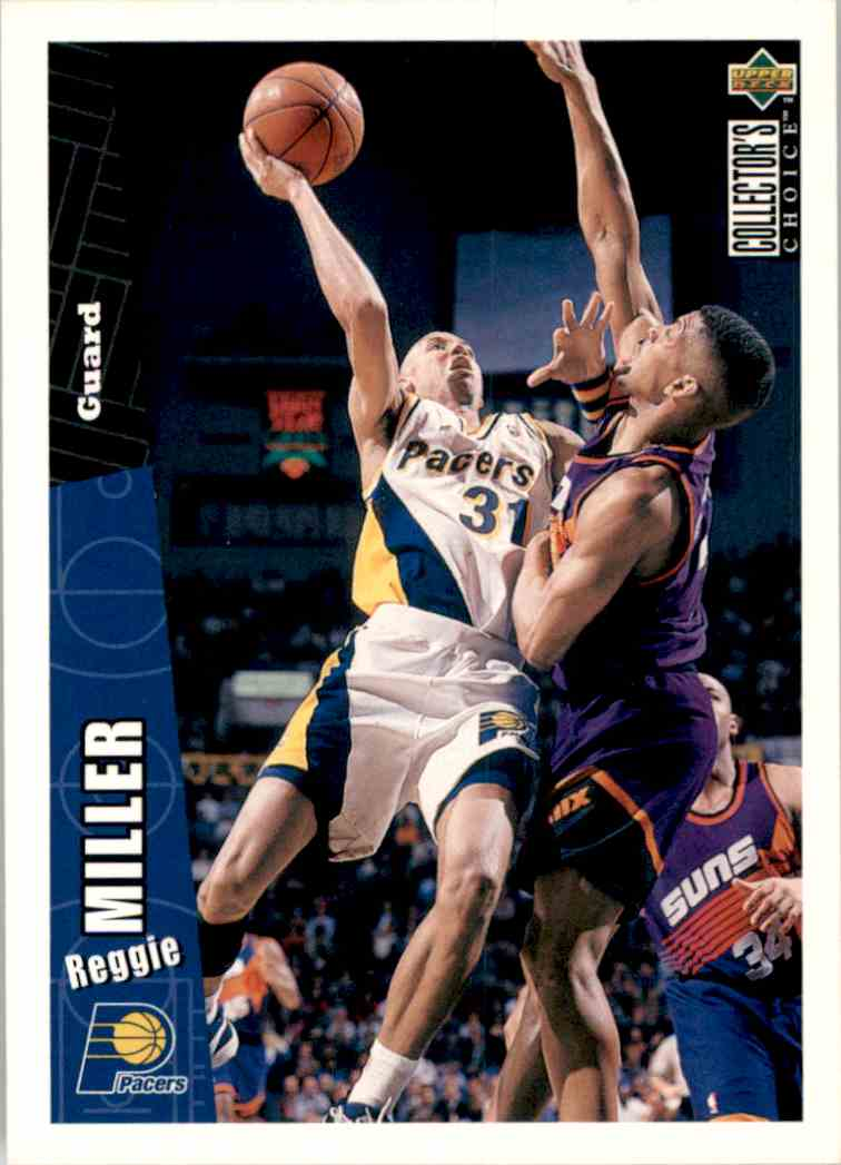 1996-97 Collector's Choice Reggie Miller #257 card front image