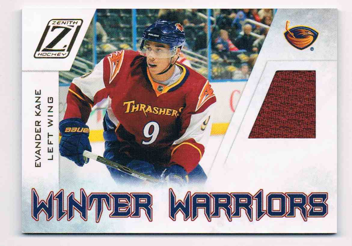 2010-11 Panini Zenith Winter Warriors Evander Kane #EK card front image