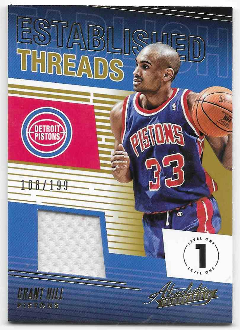 2013-14 Panini Absolute Memorabilia Established Threads Grant Hill #ET-GHL card front image