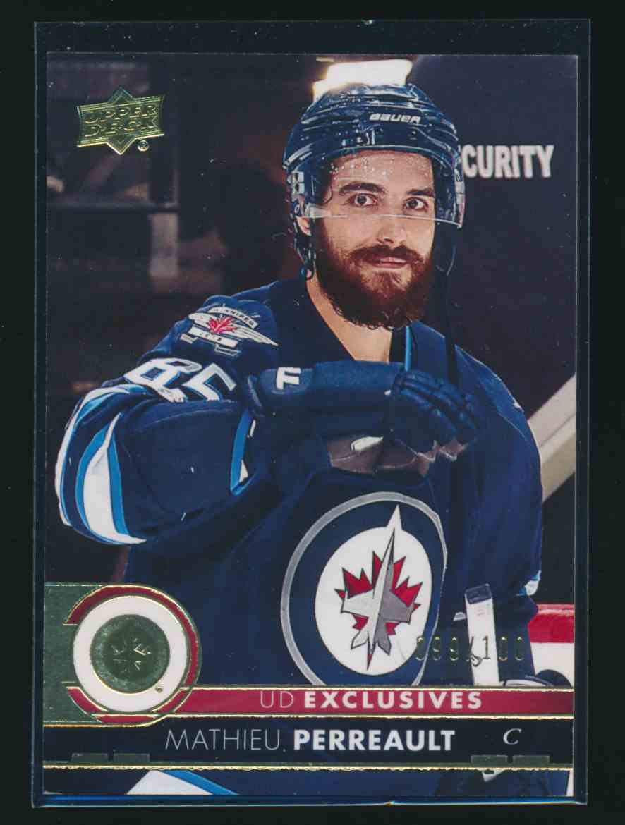 2017-18 Upper Deck Exclusive Mathieu Perreault #197 card front image