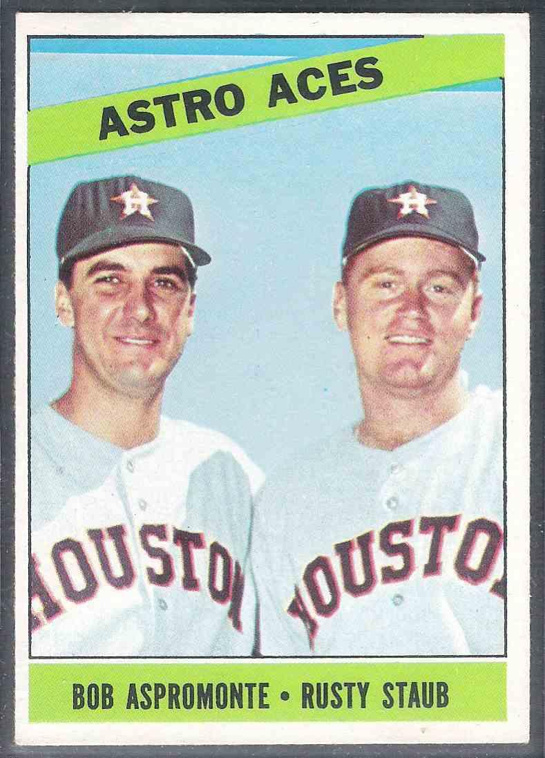 1966 Topps Astro Aces Aspomonte Staub Nm #273 card front image