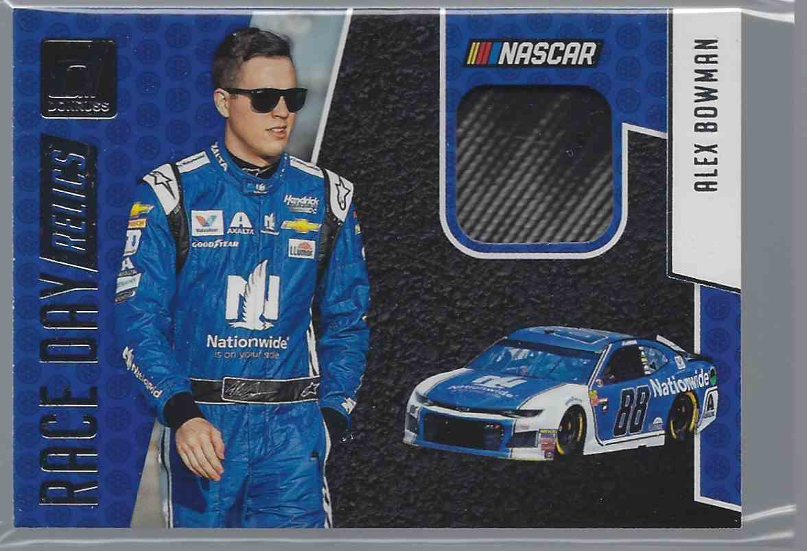 2019 Donruss Race Day Relics Alex Bowman #RDAB card front image
