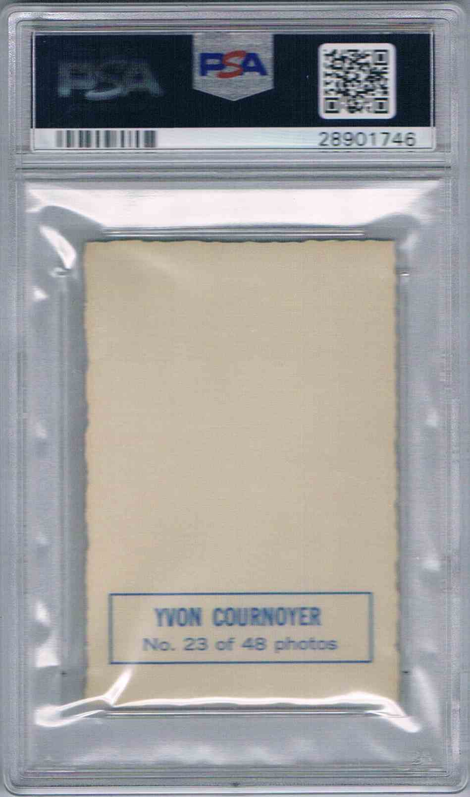 1970-71 O-Pee-Chee OPC Deckle Edge Yvan Yvon Cournoyer #23 card back image
