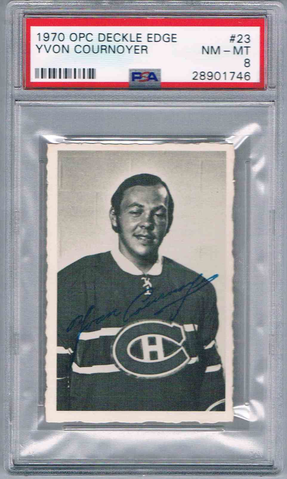 1970-71 O-Pee-Chee OPC Deckle Edge Yvan Yvon Cournoyer #23 card front image