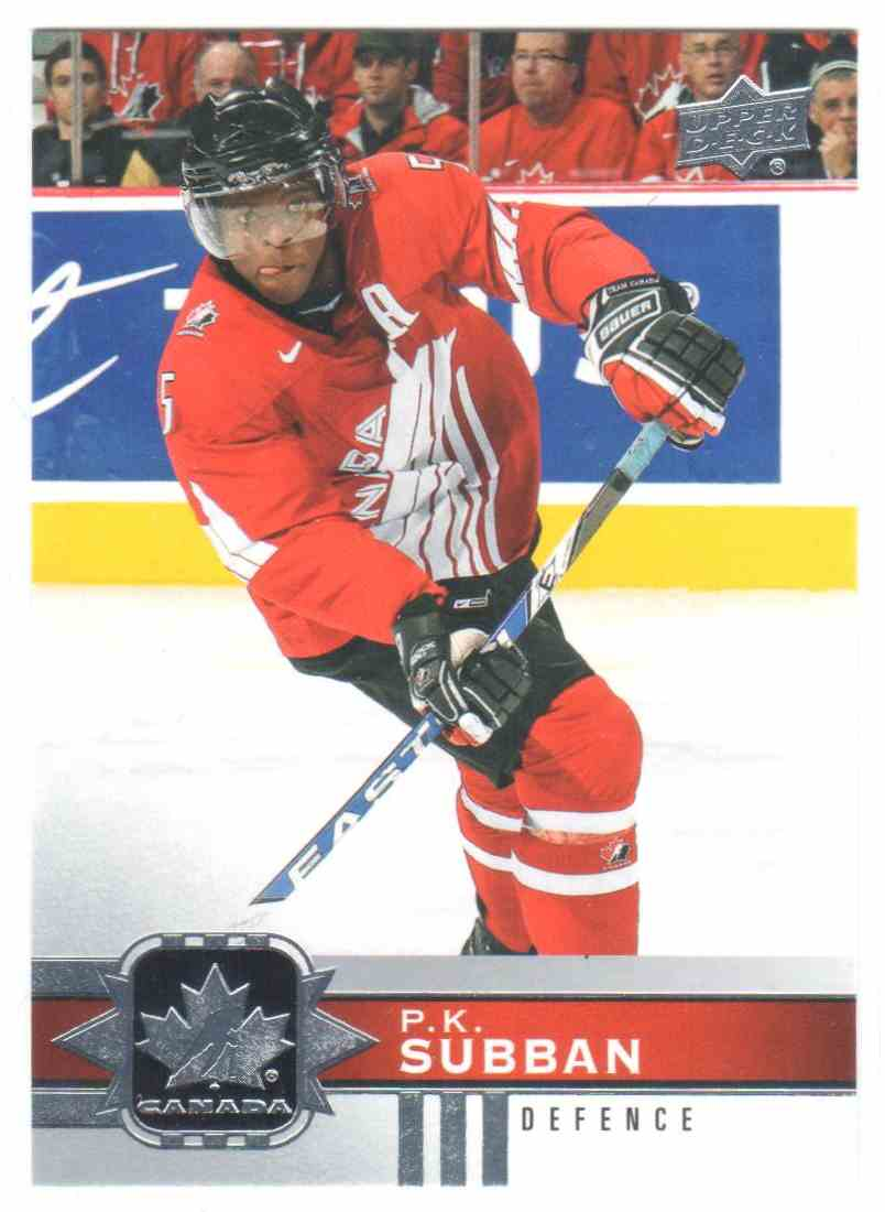 2017-18 Upper Deck Team Canada Canadian Tire P.K. Subban #103 card front image