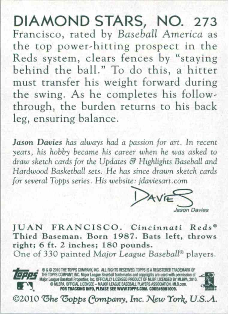 2010 Topps National Chicle Juan Francisco #273 card back image