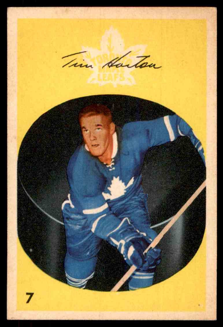 1962-63 Parkhurst Tim Horton  (C) #7 card front image