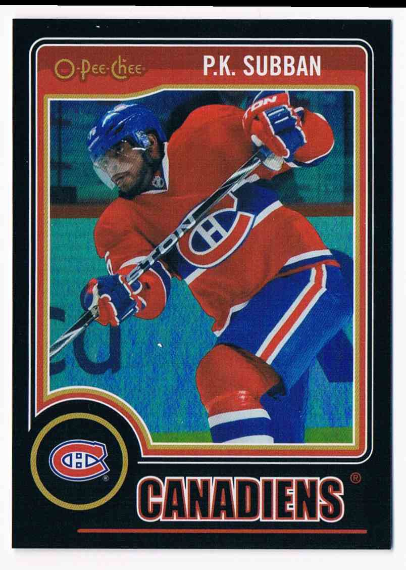 2014-15 Upper Deck O-Pee-Chee Black Rainbow P.K. Subban #9 card front image