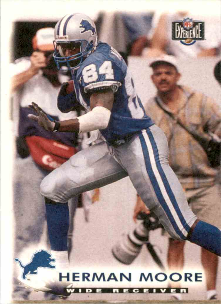 1997 Score Board NFL Experience Herman Moore #74 card front image