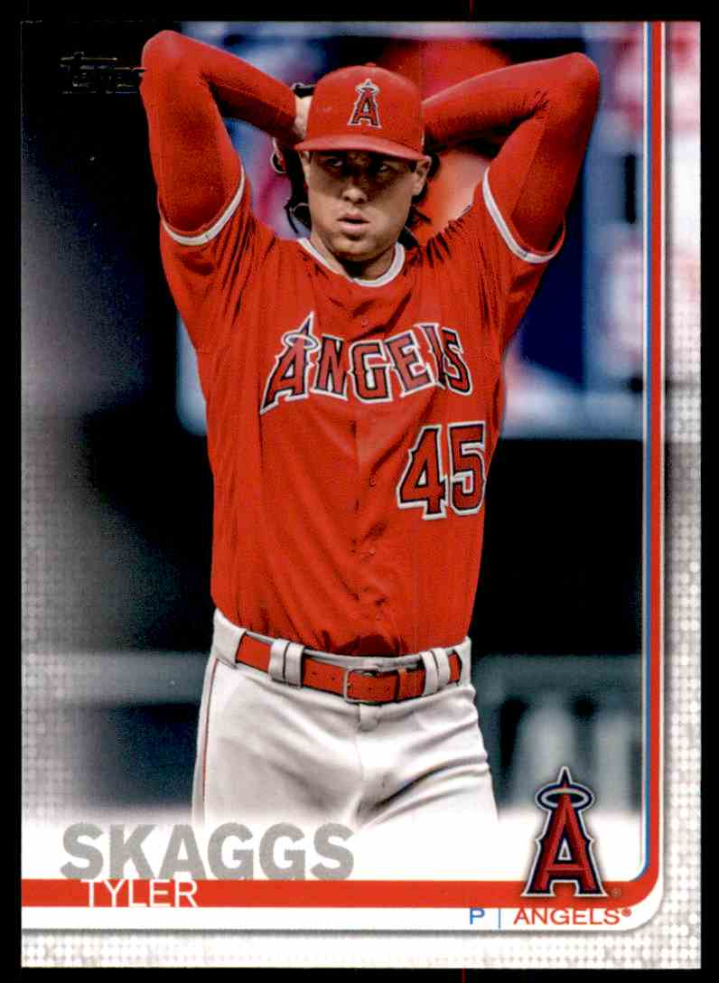 2019 Topps Tyler Skaggs #340 card front image