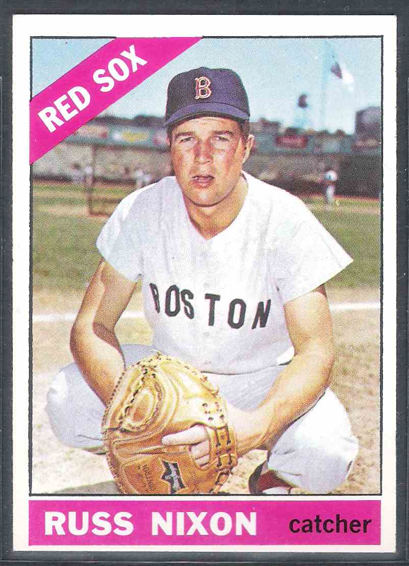 1966 Topps Russ Nixon Nm+ #227 card front image