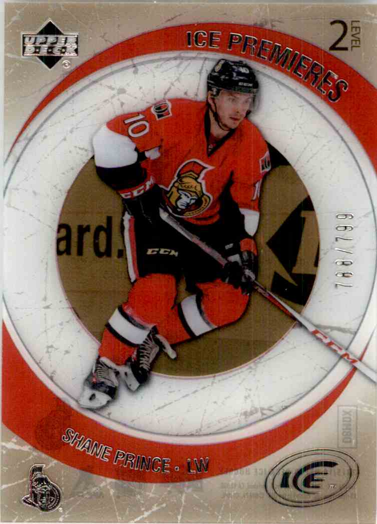 2015-16 Upper Deck Ice '05 '06 Retro Ice Premieres Shane Prince #R-6 card front image