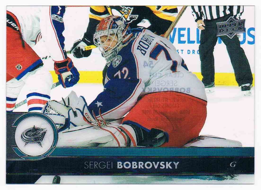 2017-18 Upper Deck Clear Cut Sergei Bobrovsky #54 card front image
