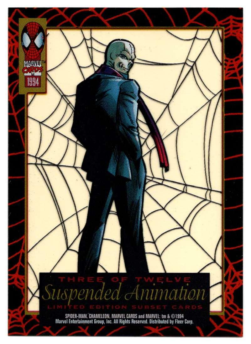 1994 Amazing Spider-Man Suspended Animation Chameleon #3 card back image