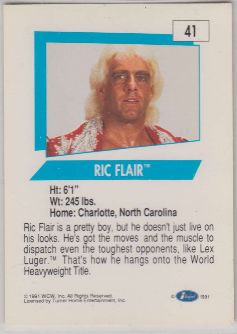 1991 Impel Wcw Ric Flair #41 card back image