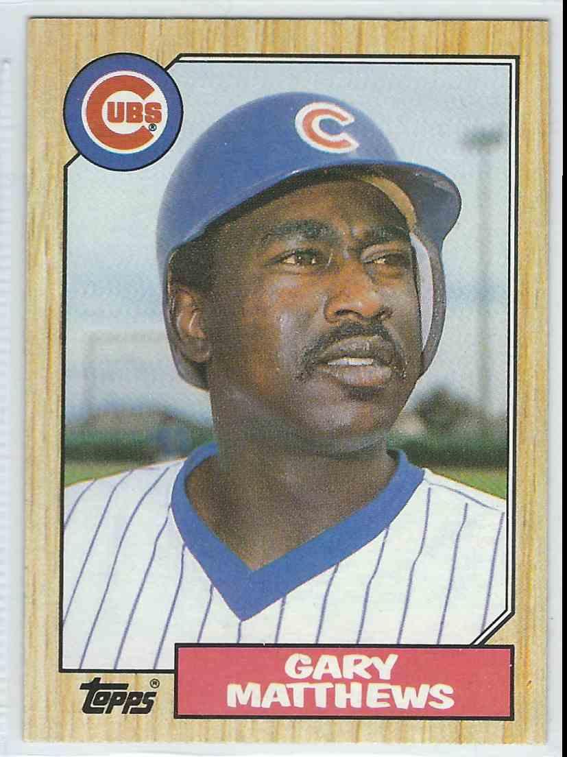1987 Topps Gary Matthews #390 card front image