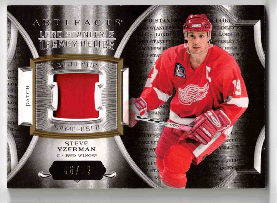 2015-16 Upper Deck Artifacts Lord Stanley's Legacy Relics Gold Steve Yzerman #LSLR-SY card front image