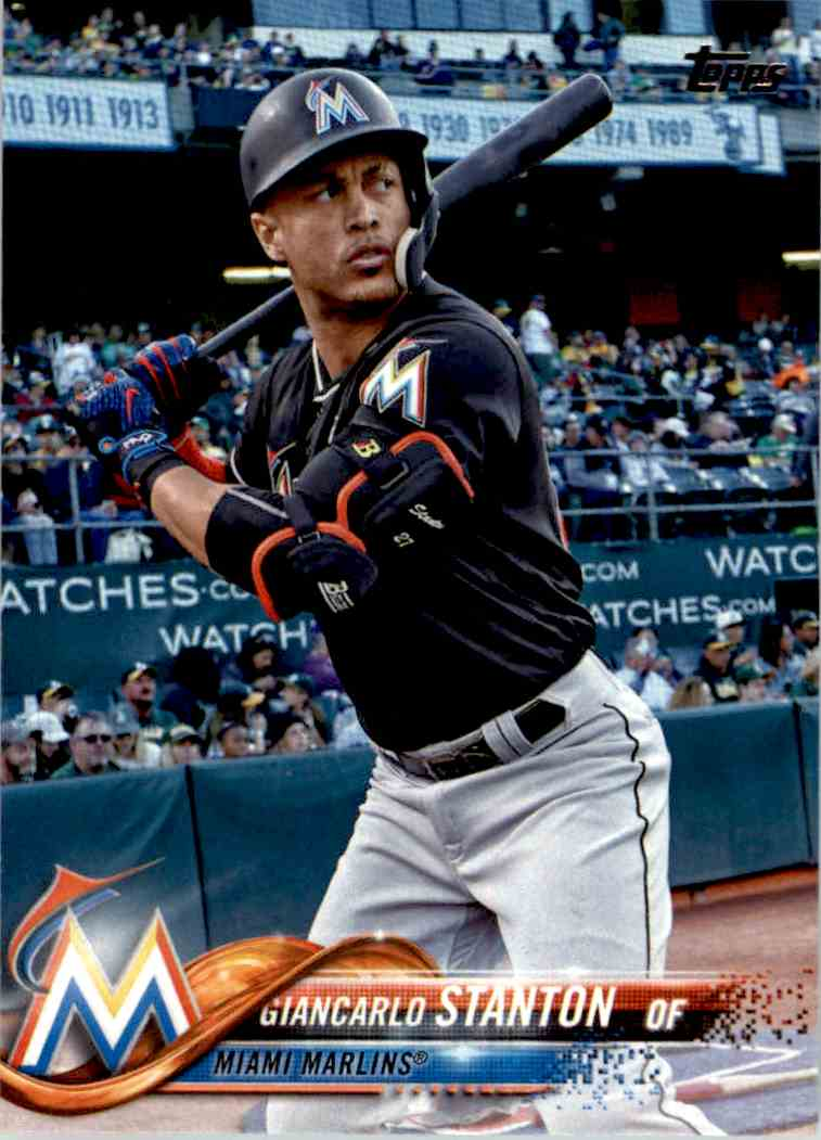 2018 Topps Giancarlo Stanton #100 card front image