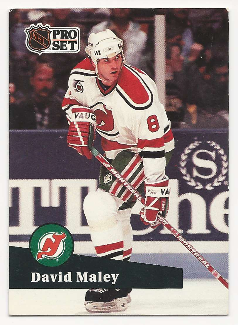 1991-92 Pro Set David Maley #421 card front image