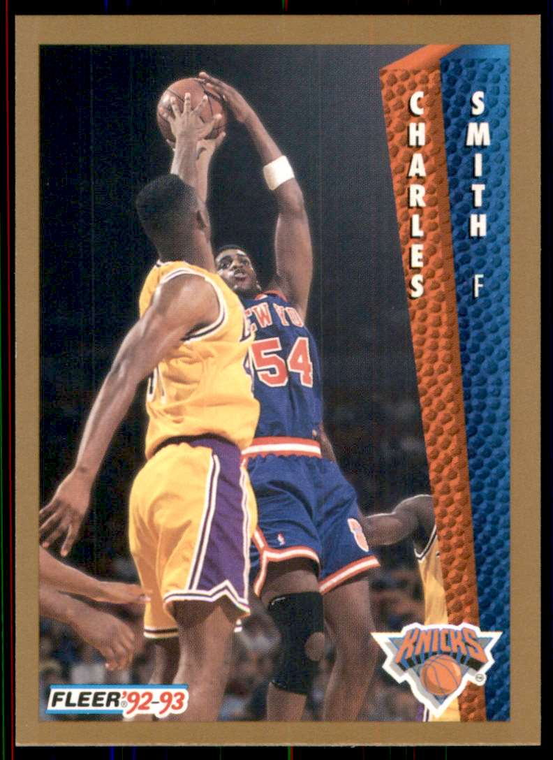 1992-93 Fleer Charles Smith #397 card front image