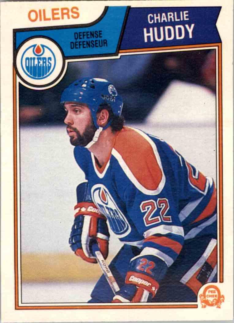 1983-84 O-Pee-Chee Charlie Huddy #30 card front image