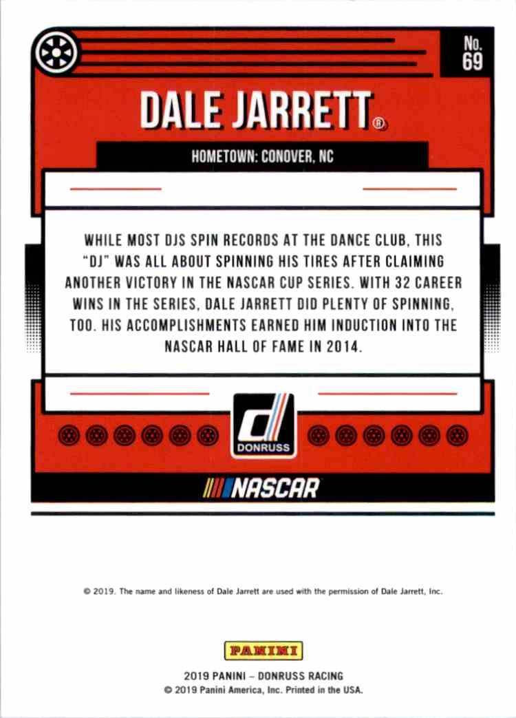 2019 Donruss Silver Dale Jarrett #69 card back image