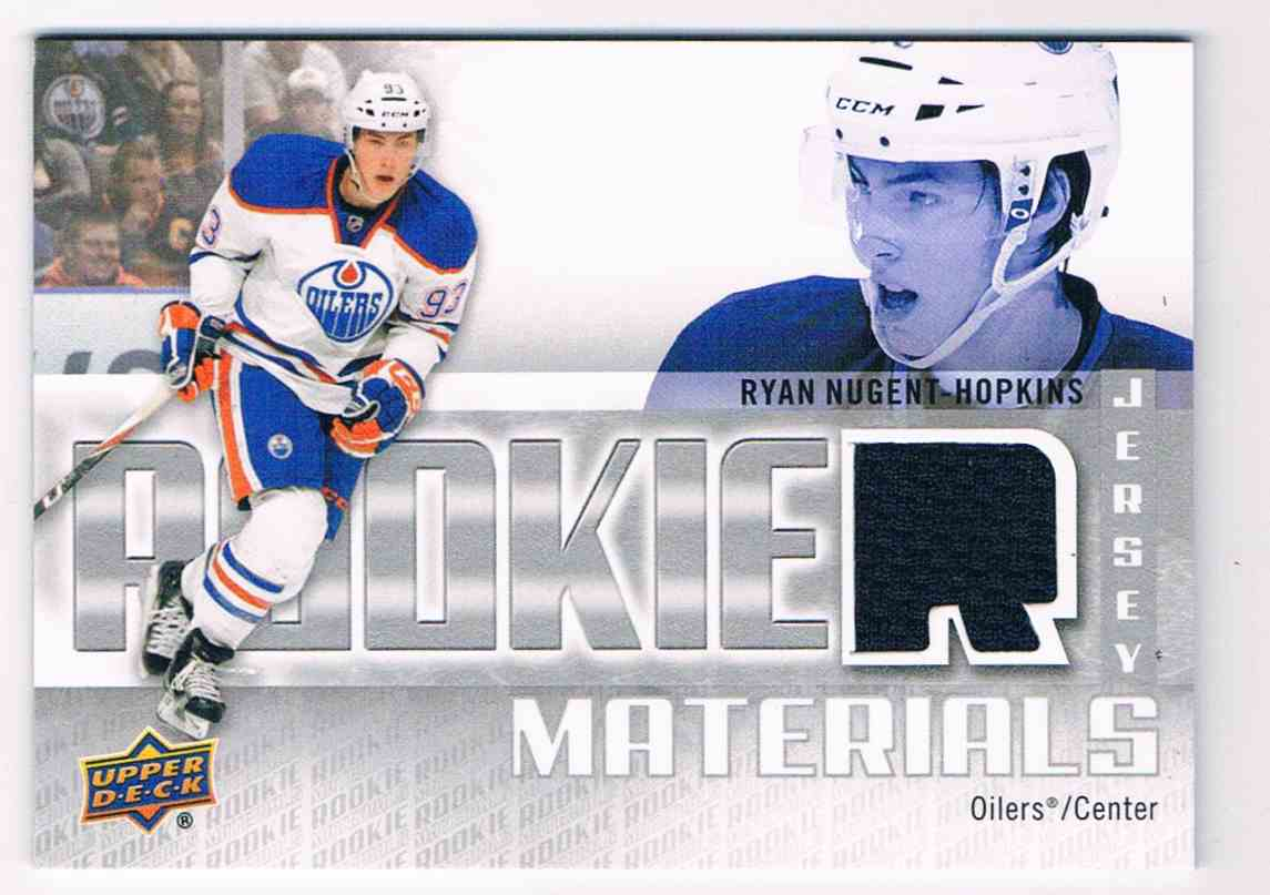 2011-12 Upper Deck Rookie Materials Ryan Nugent-Hopkins #RM-RN card front image