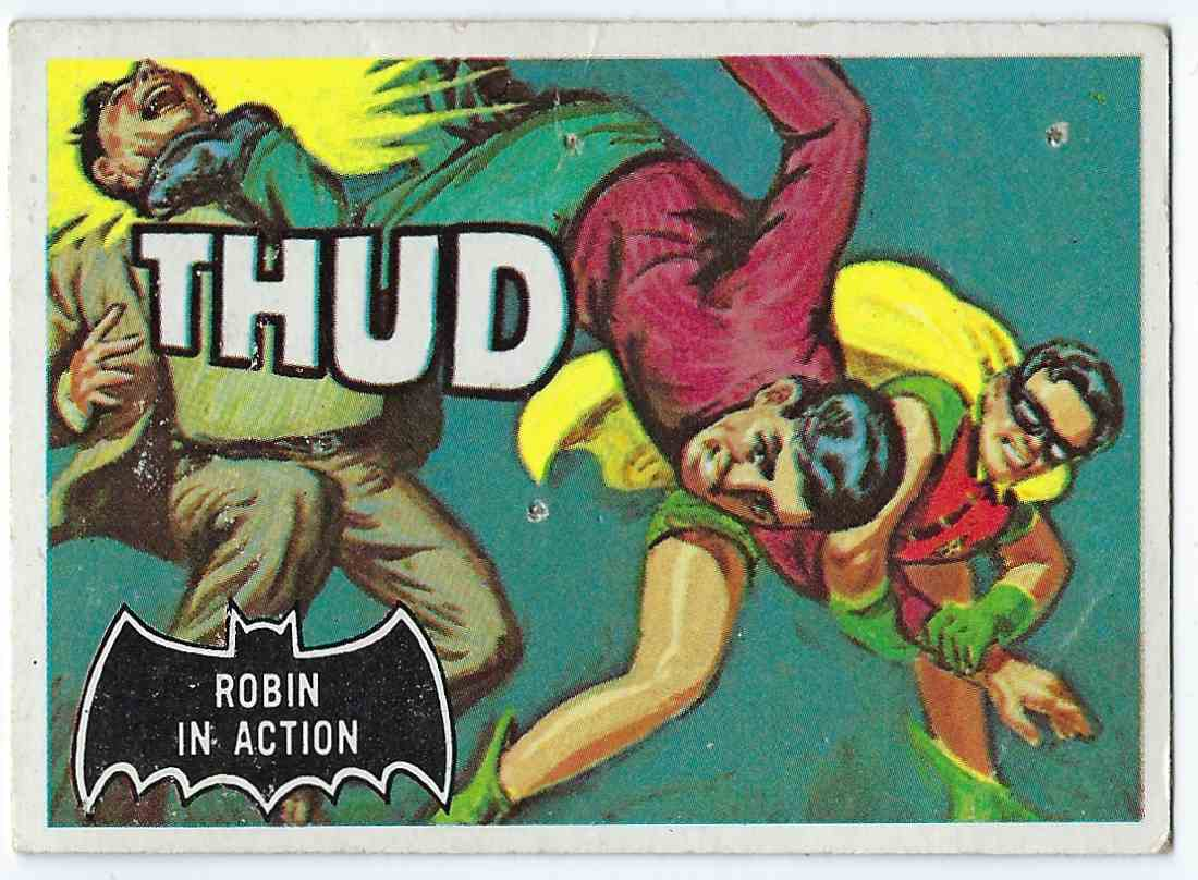 1966 Topps Batman Robin In Action #18 card front image