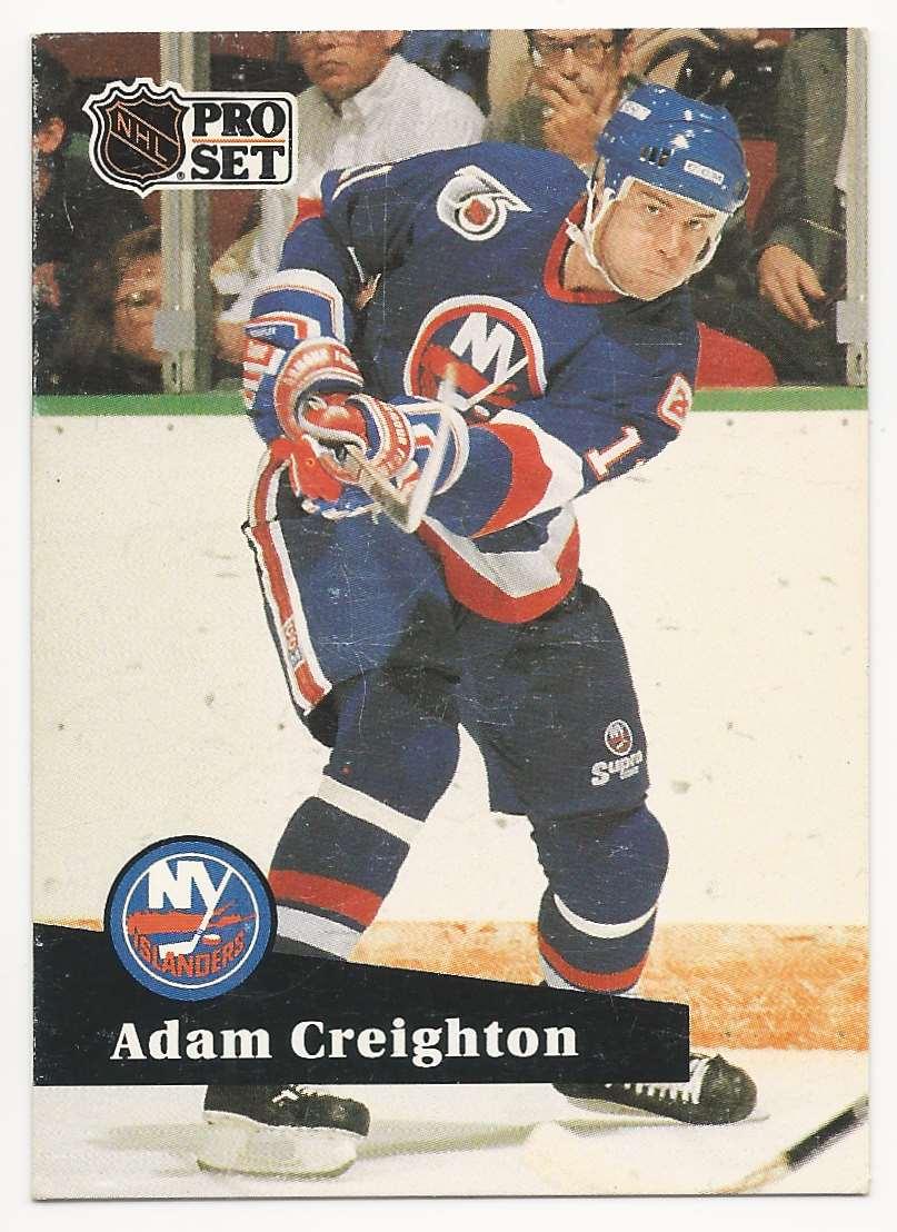 1991-92 Pro Set Adam Creighton #437 card front image