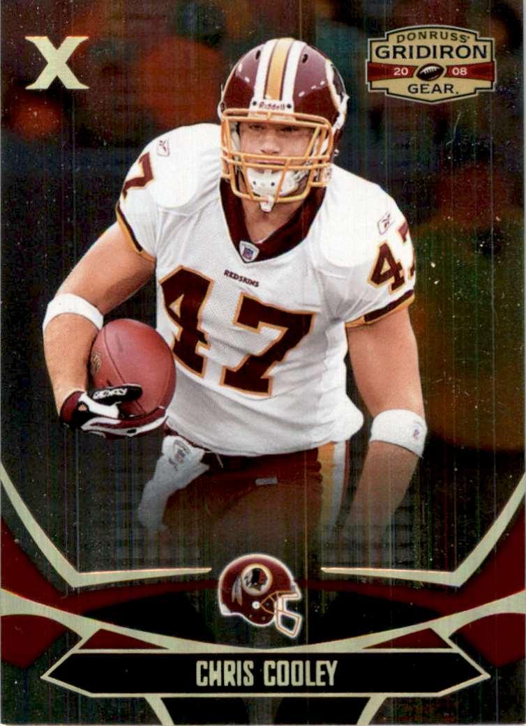 2008 Donruss Gridiron Gear Gold Holofoil X's Chris Cooley #100 card front image