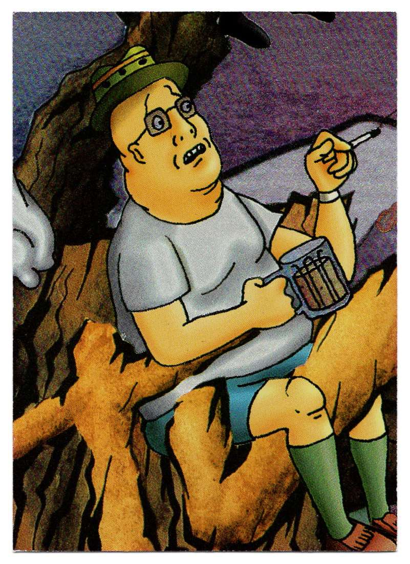 1995 Ultra Mtv Animation Prismatic Foil Puzzle Hippie Chicks Are Cool #10 card front image