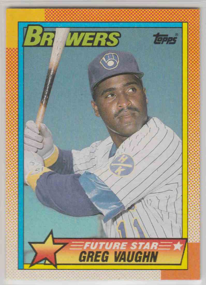 1990 Topps Future Star Greg Vaughn #57 card front image