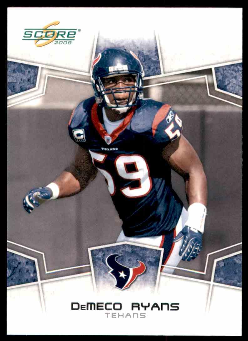 2008 Score DeMeco Ryans #123 card front image