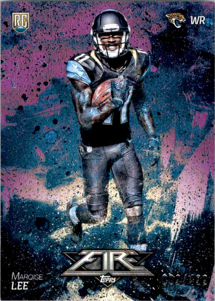 2014 Topps Fire Purple Marqise Lee #126 card front image