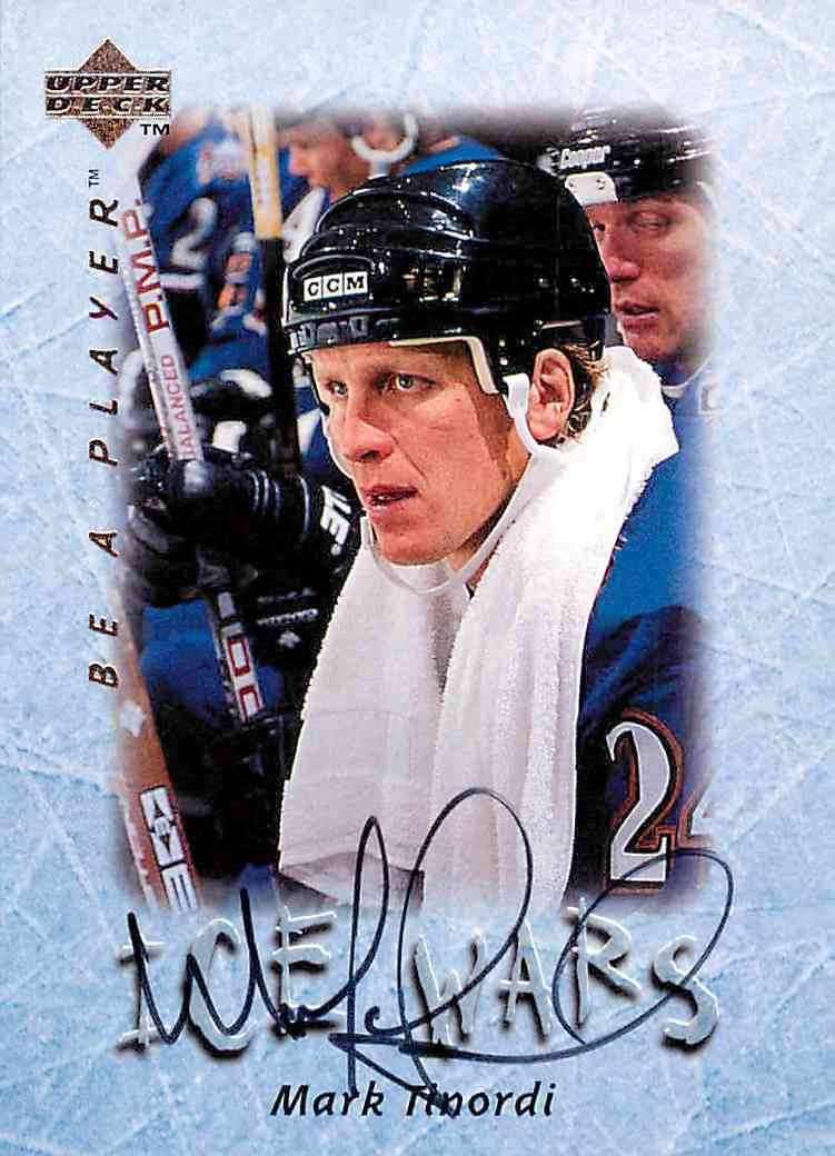 1996-97 Upper Deck Ice Wars Mark Tinordi #S220 card front image
