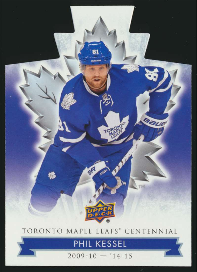 2017-18 UD Maple Leafs Centennial Die Cut Phil Kessel #39 card front image