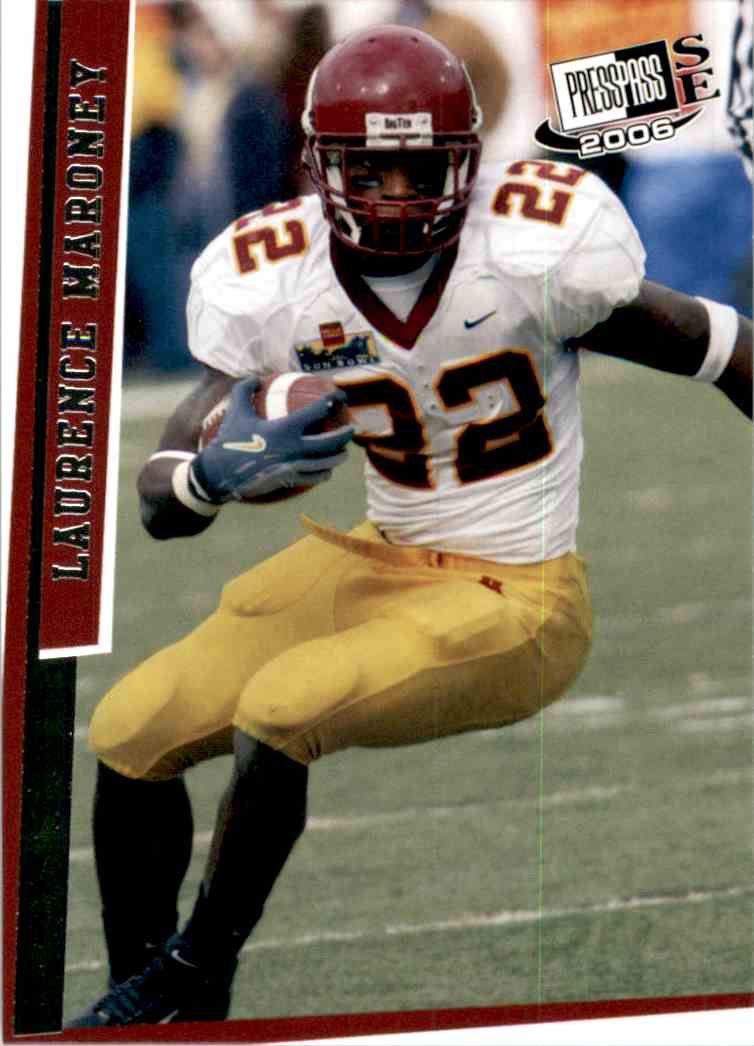 2006 Press Pass Se Laurence Maroney #22 card front image