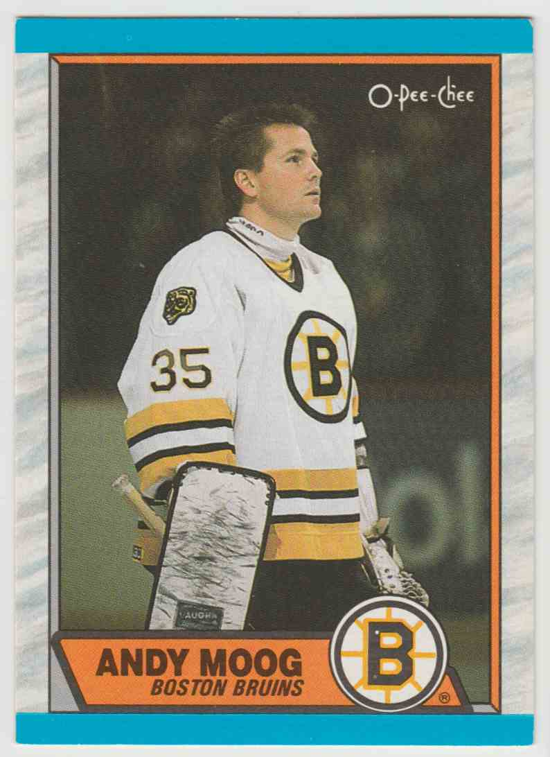 1989-90 O O-Pee-Chee Andy Moog #160 card front image