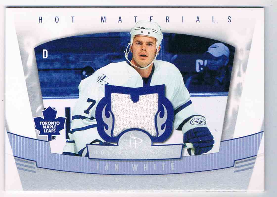 2006-07 Hot Prospects Hot Materials Ian White #HM-IW card front image