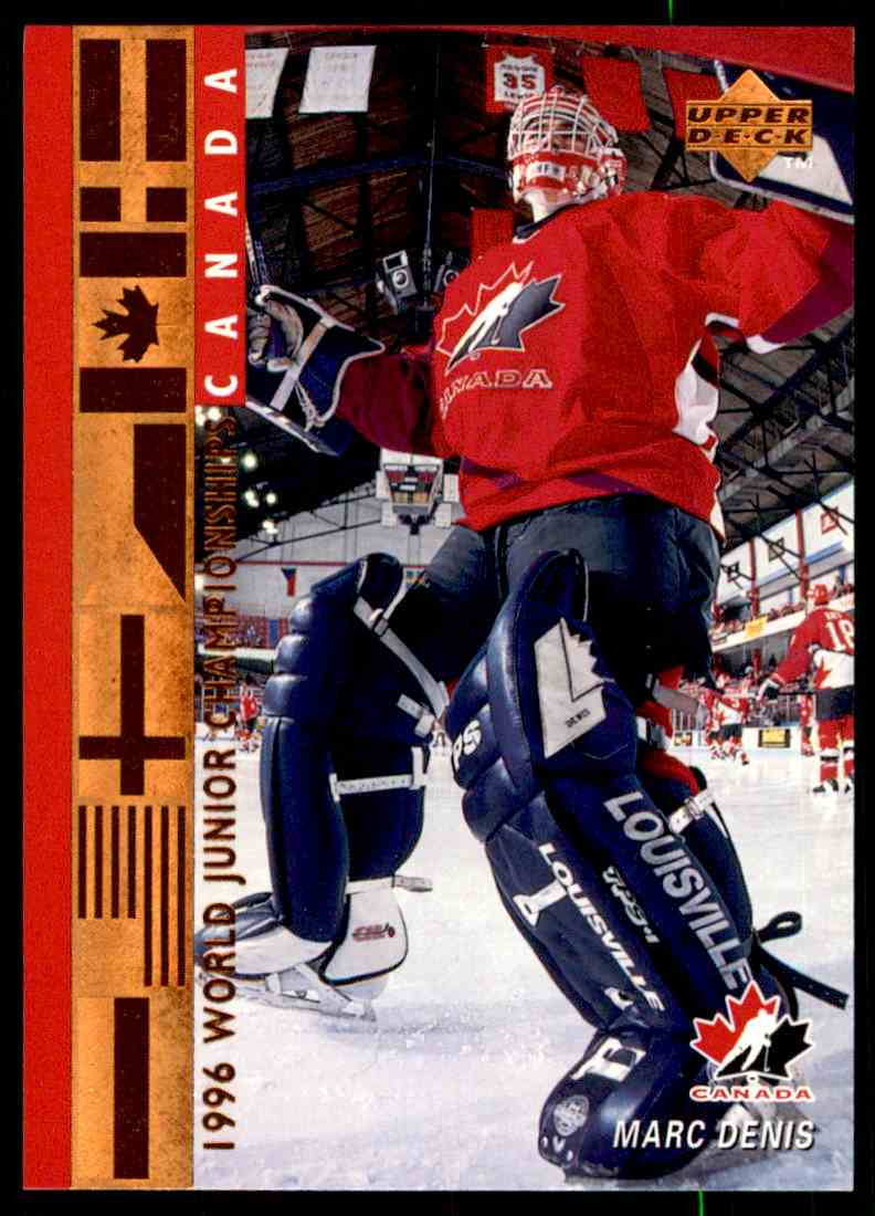 1995-96 Upper Deck ! Marc Denis #529 card front image