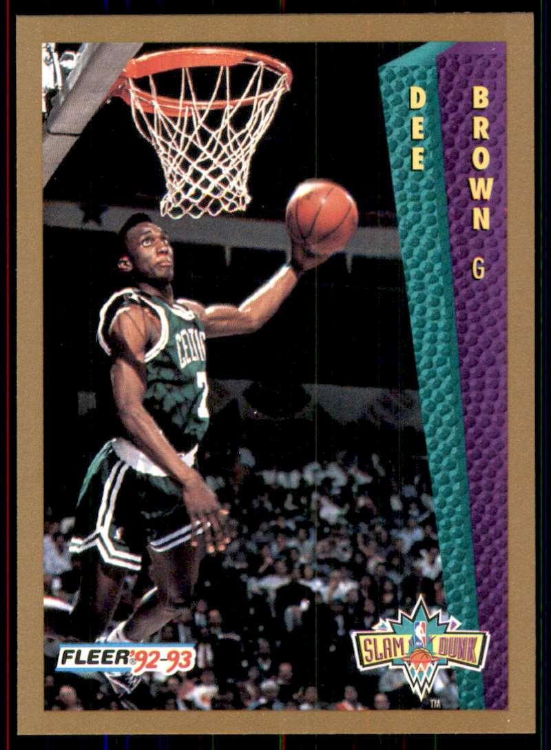 1992-93 Fleer Dee Brown Sd #281 card front image